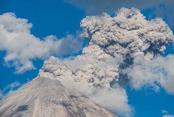 Eruption ash plume. (Photo: Tom Pfeiffer)