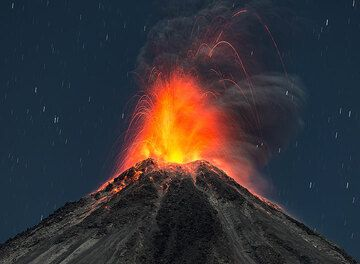 A selection of night-time eruptions observed from the west and north of Colima during our film expedition 22-28 Feb 2015.  Special thanks goes to the Protección Civil y Bomberos de Jalisco for their generosity to allow us to climb Nevado de Colima! (Photo: Tom Pfeiffer)