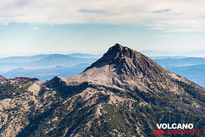 The remains of Nevado de Colima volcano's summit complex (Photo: Tom Pfeiffer)