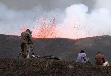 A Belgian TV crew in action. (Photo: Paul Hloben)