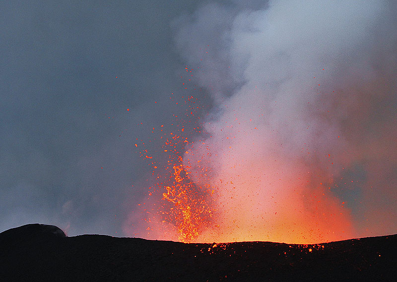 Explosion after sunset. (Photo: Paul Hloben)