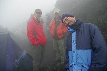 Marco Fulle and our group. (Photo: Tom Pfeiffer)