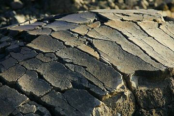 """Detail of the """"crust"""" of a volcanic bomb (Photo: Tom Pfeiffer)"""
