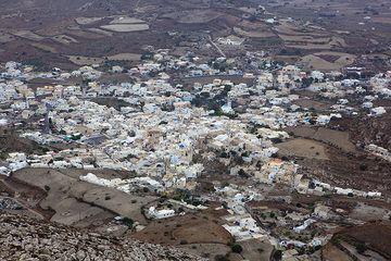Le village de Emporio vu de dessus (Photo: Tom Pfeiffer)