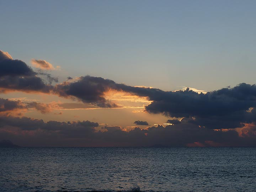 Sunrise from Perissa Beach (Photo: Ingrid Smet)