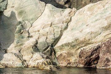 Altered volcanic rocks. (Photo: Tom Pfeiffer)