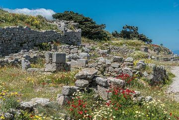 """After a few hours, we have reached the site of the Ancient Greek city """"Ancient Thera"""", excavated during the first years of the 20th century. (Photo: Tom Pfeiffer)"""