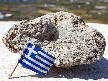 Fossile shell at Taxiarhes/Akrotiri. (Photo: Tobias Schorr)