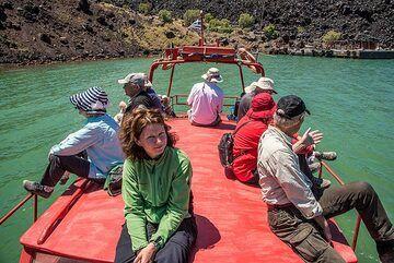On Sostis' boat. (Photo: Tom Pfeiffer)