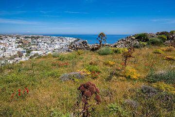 View towards Kamari (Photo: Tom Pfeiffer)