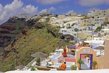 Santorini's capital Fira (c)