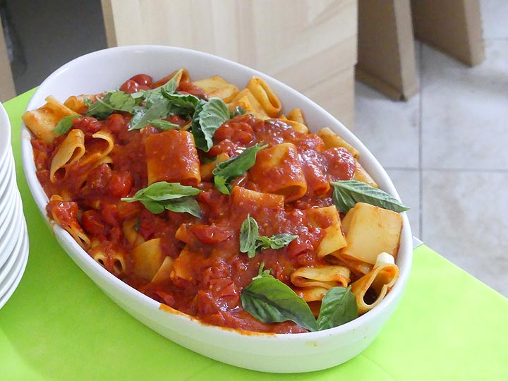 ... and a delicious home made pasta with only fresh ingredients! (Photo: Ingrid Smet)