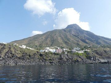 On the southwestern tip of Stromboli lies the island's second village, Ginostra. (Photo: Ingrid Smet)