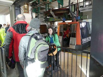 The first etappe on our journey to the summit craters of Mt Etna is taking a cable car ride from ca 1900 masl to ca 2500 masl. (Photo: Ingrid Smet)