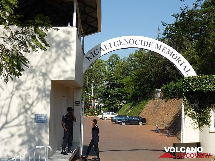 Day 1 - Entrance to the Kigali Genocide Memorial in the capital of Rwanda (Photo: Ingrid Smet)
