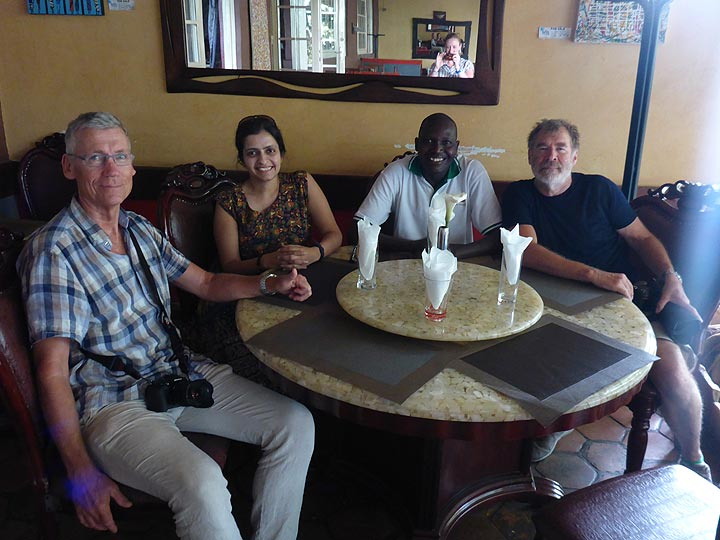 Day 1 - Lunch in a nice local restaurant in Kigali (Photo: Ingrid Smet)