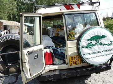 Day 2 - Filling up the logistic vehicle with fresh local supplies for our Nyiragongo camping  (Photo: Ingrid Smet)