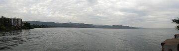 Day 2 - Panorama for Lake Kivu taken from our hotel and looking towards Rwanda (Photo: Ingrid Smet)