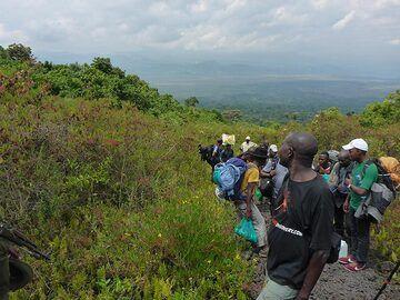 Day 3 - Looking back fron Nyiragongo´s lower flank towards Rwanda (Photo: Ingrid Smet)