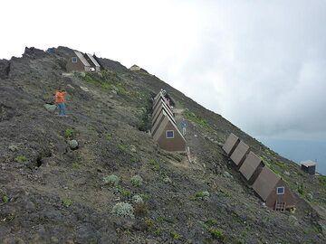 Day 5 - The entire campsite on Nyiragongo´s summit caldera (Photo: Ingrid Smet)