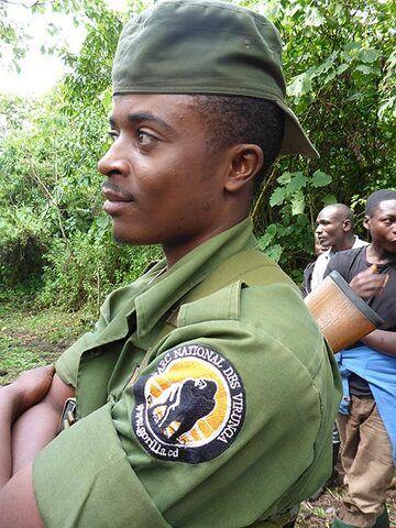 Day 6 - Virunga National Park ranger proudly wearing the park´s emblem (Photo: Ingrid Smet)