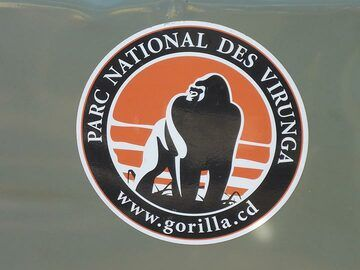 Day 7 - Virunga National Park´s logo on one of their jeeps (Photo: Ingrid Smet)