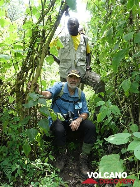 day 7 - ...before we reached the edge of the Virunga National Park from where we spent another hour tracking the gorillas through the local rain forest... (Photo: Ingrid Smet)