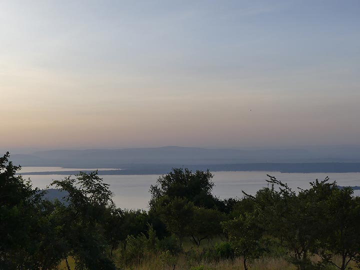 Akagera NP extension - light of dusk over lake Ihema (Photo: Ingrid Smet)