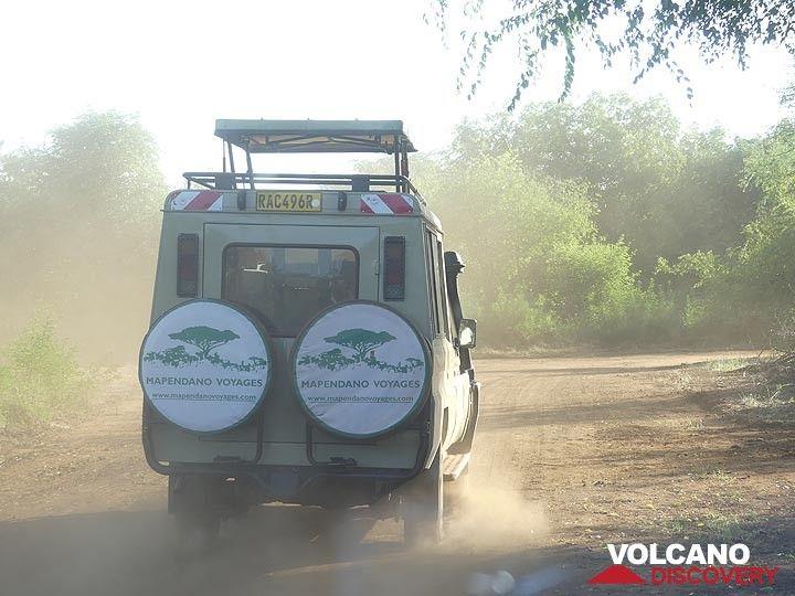 Akagera NP extension - fellow 4WD jeep (Photo: Ingrid Smet)
