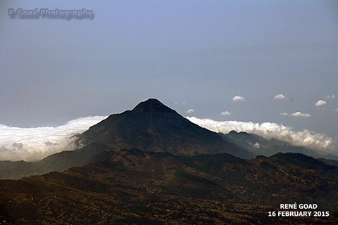 Tacana Volcano as seen from the air. At 4064m asl it marks the border between Mexico and Guatemala. The volcano last erupted in 1986. (Photo: RGoadPhotography)