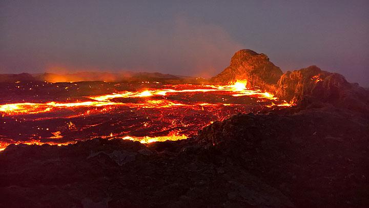 Erta Ale volcano's lava lake (30 Dec 2016) (Photo: Jens-Wolfram Erben)