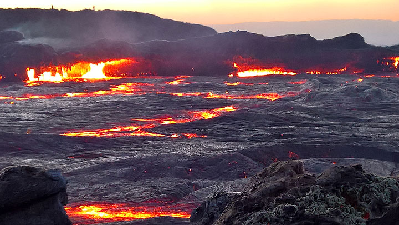 Erta Ale volcano's lava lake (29 Dec 2016) (Photo: Jens-Wolfram Erben)