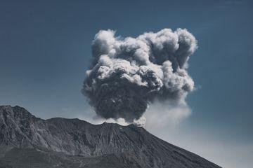 Sakurajima with a small ash emission (March 2018) (Photo: Ivana Dorn)