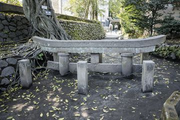 Buried gate at Kurokami Shrine that was almost totally buried in about 2 meters of ash from the 1914 Plinian eruption. (Photo: Ivana Dorn)