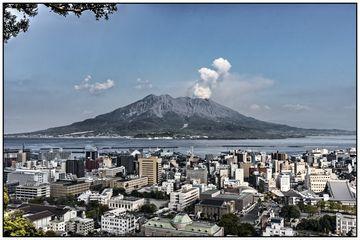 View of Sakurajima from Kagoshima city (Photo: Ivana Dorn)