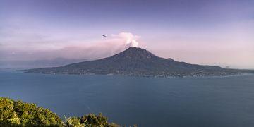 Panorama of Sakurajima from the NW (Photo: Ivana Dorn)