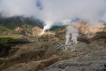 Approaching the crater of Papandayan (Photo: Ivana Dorn)