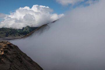 The edge of Bromo's crater (Photo: Ivana Dorn)