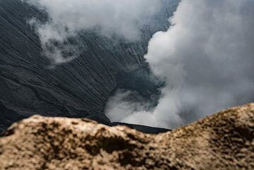 The view of Bromo's crater from its second highest point (Photo: Ivana Dorn)