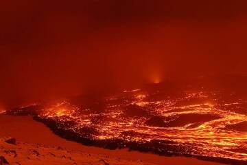 Rivers of lava from Tolbachik durig the 2012-2013 eruption (Photo: Alexander Lobashevsky)