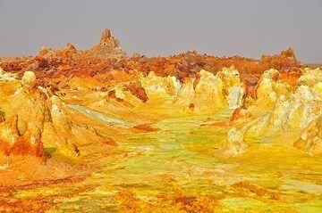 The unique hydrothermal deposits at Dallol (Photo: Anastasia)