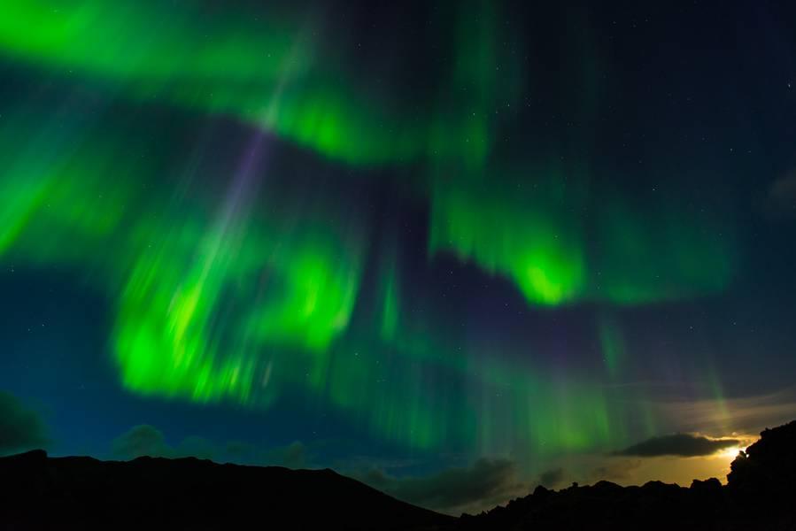 Aurora Borealis (northern lights) from Landmannalaugur (Iceland) on 12 Sep 2014 (Photo: AndreasIrgang)