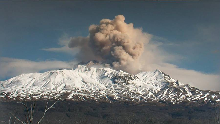 Explosion at Shiveluch volcano (Kamchatka) Oct 2016 (Photo: Andrey)