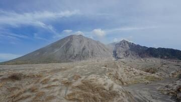 Sangeang Api volcano, Indonesia, and the active lava flow (20 June 2014) (Photo: Aris)