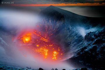 The lava dome of the Anak Krakatau. March 2012 (Photo: ClausPossberg)