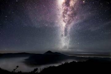 The Milky Way over the Tengger Caldera. April 2012. (Photo: ClausPossberg)