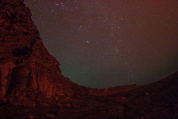Glow from the lava lake at Erta Ale's caldera walls (Photo: Dietmar)