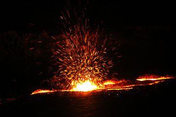 Lava fountain at Erta Ale lava lake (Photo: Dietmar)