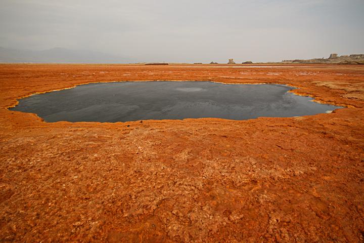 Black lake at Dallol (Photo: Dietmar)