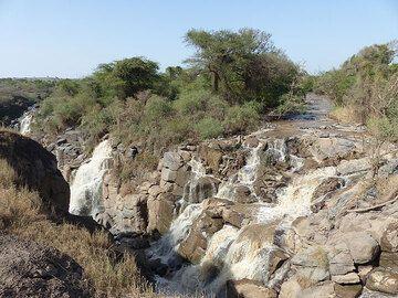 DAY 2: Short safari in Awash National Park - Awash water falls (with relatively little water) (Photo: Ingrid)